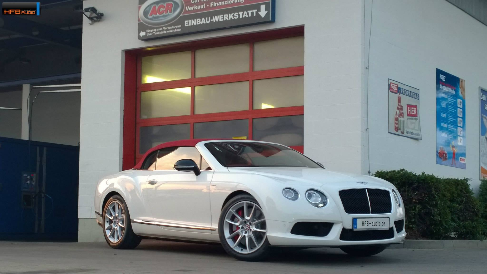 Bentley Continental GTC V8S Soundaufrüstung hfbdio dein Car
